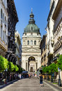 Saint stephen basilica in budapest hungary july image with st square the lartgest cathedral built as roman catholic Royalty Free Stock Image
