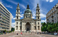 Saint stephen basilica in budapest hungary july image with st swuare the lartgest cathedral built as roman catholic Royalty Free Stock Photos