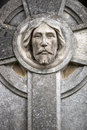 Saint stoned portrait of in one cemetery Royalty Free Stock Images