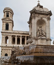 Saint Sulpice Church Paris Royalty Free Stock Image