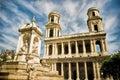 Saint Sulpice church, Paris, France Royalty Free Stock Photo
