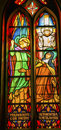 Saint Teresa Avila Stained Glass De Krijtberg Amsterdam Netherlands Royalty Free Stock Photo
