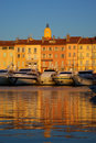 Saint Tropez in the evening light Royalty Free Stock Image