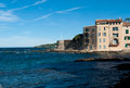 Saint tropez france harbor beautiful view on coast trope Stock Image