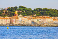 Saint Tropez, Mediterranean sea Royalty Free Stock Images