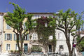 Saint tropez place henri person cote d azur french riviera southern france europe Stock Image