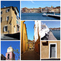 Saint-Tropez, south of France, collage Stock Photography