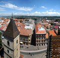 Saint urban tower in kosice view from cathedral of st elizabeth s view of bell gothic cathedral slovakia it is slovakia s biggest Stock Photo