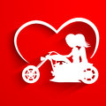 Saint Valentine's Day background, greeting card or gift card wit Stock Photos