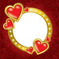 Saint Valentine's Day frame Royalty Free Stock Image