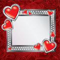 Saint Valentine's Day frame Stock Photo