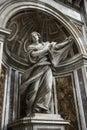 Saint Veronica statue inside Saint Peter's. Royalty Free Stock Image