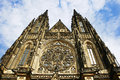 Saint vitus cathedral prague czech republic facade of medieval Royalty Free Stock Image