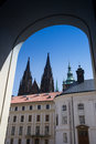 Saint vitus cathedral in prague seen from the prague castle czech republic Stock Photo