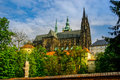 Saint vitus cathedral in spring Royalty Free Stock Photography