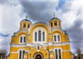 Saint volodymyr yellow cathedral kiev ukraine was built between and it is the mother church of the ukrainian Royalty Free Stock Photo
