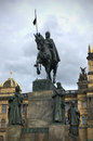 Saint wenceslas statue on vaclavske namesti in prague czech republic Stock Photography