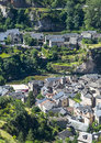 Sainte enimie gorges du tarn historic town on the lozere languedoc roussillon france at summer Stock Photography
