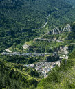 Sainte enimie gorges du tarn historic town on the lozere languedoc roussillon france at summer Royalty Free Stock Image