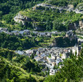 Sainte enimie gorges du tarn historic town on the lozere languedoc roussillon france at summer Stock Photos