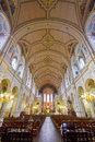 Sainte-Trinite Church interior view. Royalty Free Stock Image