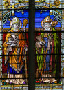 Saints Athanasius and Gregorius - Stained Glass Royalty Free Stock Photo