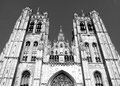 Saints Michael and Gudula Cathedral Brussels Royalty Free Stock Photo