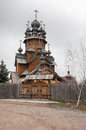 Saints monastery svyatogorskaya laurels ukraine the church was built of logs Stock Photos