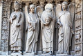 Saints in Notre Dame Cathedral Paris Stock Photos