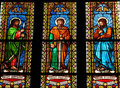 Saints stained glass window in the church of bad doberan a town in the district of rostock mecklenburg vorpommern germany this Stock Photo