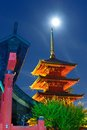 Saisho in monastery in hirosaki aomori japan the five storied pagoda was completed in and stands meters Royalty Free Stock Photo