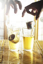 Sake Bomb Royalty Free Stock Photo