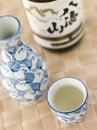 Sake Bottle Jug and Cup Royalty Free Stock Photo