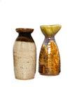 Sake bottle on white background Stock Photo