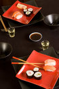 Sake and sushi Royalty Free Stock Photography