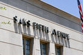 Saks Fifth Avenue Royalty Free Stock Photo