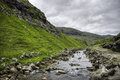 Saksun River Iconic place in Streymoy Island, Faroe Islands, Denmark, Europe Royalty Free Stock Photo