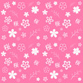 Sakura cute pink seamless pattern with sakuras flowers Stock Image