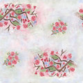 Sakura flower pattern with on a gentle watercolor background Royalty Free Stock Image
