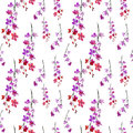 Sakura flowers pattern watercolor seamless Royalty Free Stock Photos