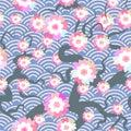 Sakura Flowers Seamless Patter...