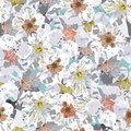 Sakura seamless pattern Royalty Free Stock Photos
