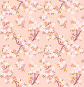 Sakura seamless pattern Royalty Free Stock Images