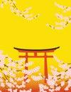 Sakura and Tori Royalty Free Stock Photo