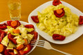 Salad with aperitif Royalty Free Stock Images