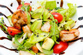 Salad with avocado and shrimps Royalty Free Stock Images