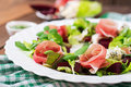 Salad with baked beet, blue cheese Royalty Free Stock Photo