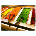 Salad bar close up of a photographed with an iphone s and edited with instagram app Royalty Free Stock Photos