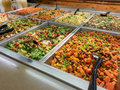 Salad bar an upscale providing a variety of food for local customers in northern virgina Stock Photo