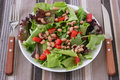 Salad with beans on a plate Royalty Free Stock Photography